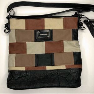 STONE & CO leather patchwork crossbody purse